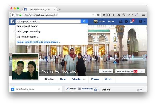 Facebook graph-search